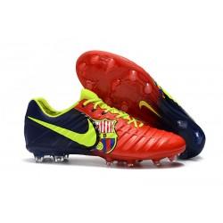 Buty piłkarskie Sklep Nike Tiempo Legend VII FG Czerwony Niebieski Wolt