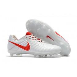 Profesjonalne Buty piłkarskie Nike Tiempo Legend 7 FG Biały Czerwony