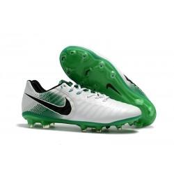 Tanie Korki Piłkarskie Nike Tiempo Legend VII FG Biały Zielony Czarny