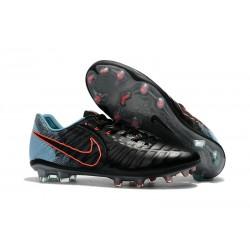 Buty piłkarskie Sklep Nike Tiempo Legend VII FG Czarny Niebieski PomaraŃczowy