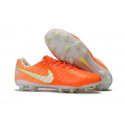 Buty piłkarskie Sklep Nike Tiempo Legend VII FG PomaraŃczowy Biały Wolt