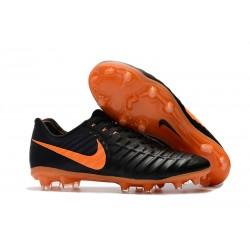 Tanie Buty piłkarskie Nike Tiempo Legend VII FG Czarny Laser PomaraŃczowy