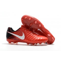 Tanie Buty piłkarskie Nike Tiempo Legend VII FG Czerwony Czarny Biały