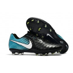 Korki Piłkarskie Sklep Nike Tiempo Legend VII FG Czarny Niebieski Biały