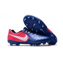 Korki Piłkarskie Sklep Nike Tiempo Legend VII FG Niebieski RÓŻowy