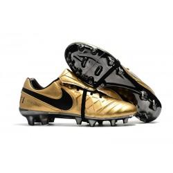 Profesjonalne Buty piłkarskie Nike Tiempo Legend 7 FG Nike Tiempo Totti X Roma Złoty Czarny
