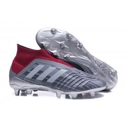 Nowe Korki Piłkarskie Adidas Predator 18+ FG Zelazny Metalik
