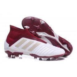 Nowe Korki Piłkarskie Adidas Predator 18+ FG Biało Czerwony