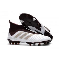 Buty piłkarskie Meskie - Adidas Predator 18+ FG Biały Brązowy