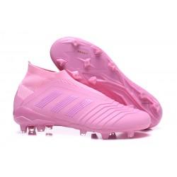 Buty piłkarskie Meskie - Adidas Predator 18+ FG Różowy