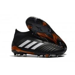 Buty piłkarskie Meskie - Adidas Predator 18+ FG Czarny Bialy Czerwony