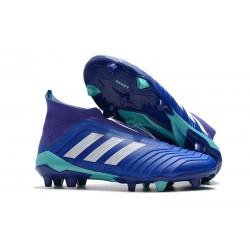 Buty piłkarskie Meskie - Adidas Predator 18+ FG Niebiesko Biały