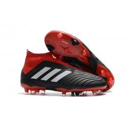 Nowe Korki Piłkarskie Adidas Predator 18+ FG Czarny Czerwony Biały