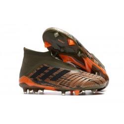 Nowe Korki Piłkarskie Adidas Predator 18+ FG Oliwa Core Black Pomarańczowy
