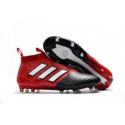 Korki Piłkarskie Adidas ACE 17+ PureControl FG - Meskie Biały Czerwony Rdzeń Czarny