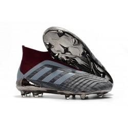 Buty piłkarskie Meskie - Adidas PP Predator 18+ FG Żelazny Metalik