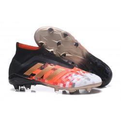 Nowe Korki Piłkarskie Adidas Predator Telstar 18+ FG Czarny Metaliczny Copper Szary