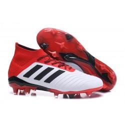 Korki Piłkarskie Adidas Predator 18.1 FG Biały Czarny Czerwony