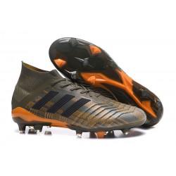Nowe Korki Piłkarskie Adidas Predator 18.1 FG Oliwa Core Black Pomarańczowy
