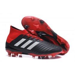 Buty piłkarskie Sklep Adidas Predator 18.1 FG Czarny Czerwony Biały