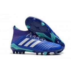 Buty piłkarskie Sklep Adidas Predator 18.1 FG Niebiesko Biały