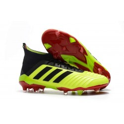Profesjonalne Buty piłkarskie Adidas Predator 18.1 FG Solar Yellow Core Black Solar