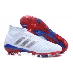 Buty piłkarskie Sklep Adidas Predator 18.1 FG Srebrny Czerwony Niebieski