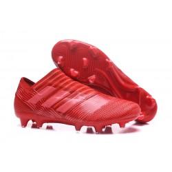 Nowe Buty piłkarskie - Adidas Nemeziz 17+ 360 Agility FG Czerwony Różowy