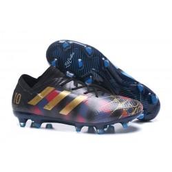 Nowe Korki pilkarskie Adidas Nemeziz 17+ 360 Agility FG Messi Czarny Złoty Niebieski