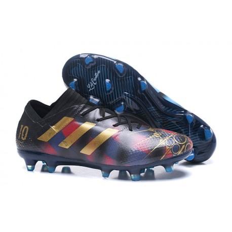 nowy produkt najlepiej sprzedający się super promocje Nowe Korki pilkarskie Adidas Nemeziz 17+ 360 Agility FG Messi Czarny Złoty  Niebieski