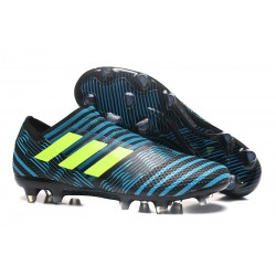 Meskie Buty piłkarskie - Adidas Nemeziz 17+ 360 Agility FG Niebiesko Żółty