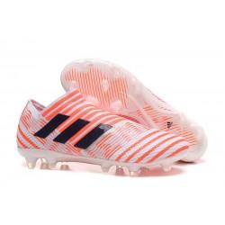Meskie Buty piłkarskie - Adidas Nemeziz 17+ 360 Agility FG Pomarańczowy Czarny Biały