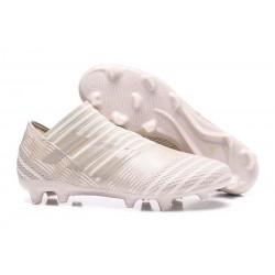 Meskie Buty piłkarskie - Adidas Nemeziz 17+ 360 Agility FG Szaro Biały