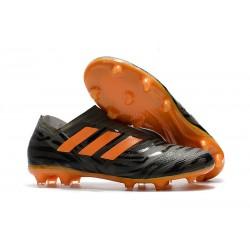 Nowe Buty piłkarskie - Adidas Nemeziz 17+ 360 Agility FG Czarny Pomarańczowy