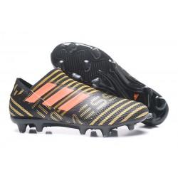 Profesjonalne Buty piłkarskie - Adidas Nemeziz 17+ 360 Agility FG Czarne Czerwone Złoto