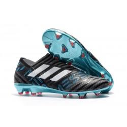 Profesjonalne Buty piłkarskie - Adidas Nemeziz 17+ 360 Agility FG Szary Biały Czarny