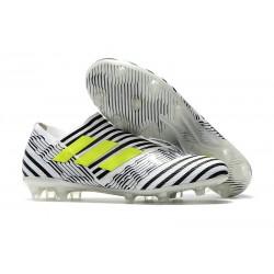 Meskie Korki pilkarskie Adidas Nemeziz 17+ 360 Agility FG Biały Słoneczny Żółty Rdzeń Czarny