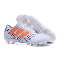 Nowe Korki pilkarskie Adidas Nemeziz 17+ 360 Agility FG Biały Pomarańczowy Szary