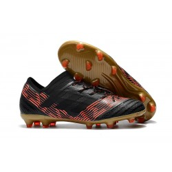 Nowe Buty piłkarskie adidas Nemeziz Messi 17.1 FG Czarne Czerwone Złoto