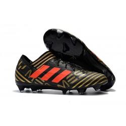Meskie korki Piłkarskie adidas Nemeziz Messi 17.1 FG Czarny Złoty PomaraŃCzowy