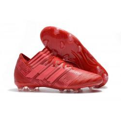 Buty Piłkarskie - Tani adidas Nemeziz Messi 17.1 FG Czerwony RÓŻowy