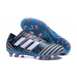 Meskie korki Piłkarskie adidas Nemeziz Messi 17.1 FG Szary Czarny Niebieski