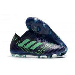 Buty Piłkarskie - Tani adidas Nemeziz Messi 17.1 FG Atramentowy Zielony Czarny