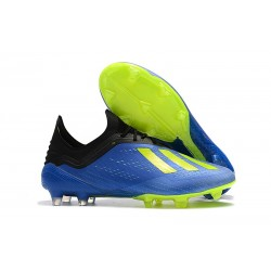 Meskie Buty piłkarskie Adidas X 18.1 FG Niebieski Zólty Czarny