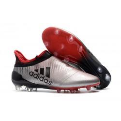 Tani Korki Piłkarskie Meskie adidas X 17+ FG - Srebrzysty Czerwony Czarny