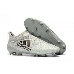 Korki Piłkarskie Meskie adidas X 17+ FG - Biało Czarny