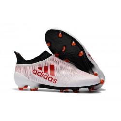 Sklep Buty piłkarskie adidas X 17+ FG - Bialy Koralowy Czarny