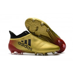 Korki Piłkarskie Meskie adidas X 17+ FG - Złoty Czerwony Czarny