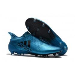 Sklep Buty piłkarskie adidas X 17+ FG - Niebiesko Czarny