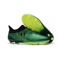 Sklep Buty piłkarskie adidas X 17+ FG - Zielony Metaliczny Czarny Zólty